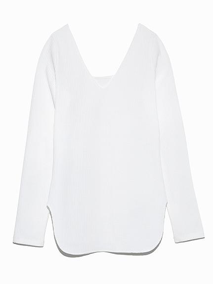 【emmi atelier】リブロングTシャツ