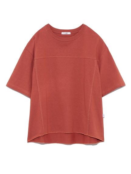 【emmi atelier】デザインステッチTシャツ