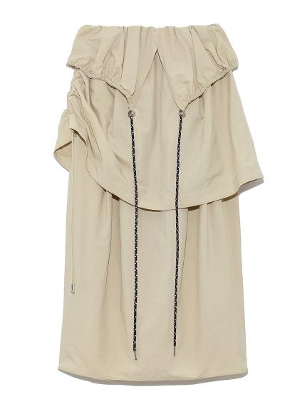 【emmi atelier】ドロストレイヤードスカート(BEG-0)