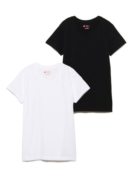 【Hanes】2P JAPAN FIT FOR HER クルーネックTシャツ